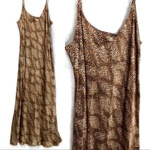 Animal Print Night Gown Silk Cheetah print Sz Med.